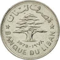Monnaie, Lebanon, 50 Piastres, 1978, TTB+, Nickel, KM:28.1 - Lebanon