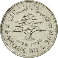 Monnaie, Lebanon, 50 Piastres, 1978, TTB+, Nickel, KM:28.1 - Liban