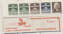 Denmark 1974-81 Booklet 2x10, 1x50, 1x20, 1x110 MUH - Denmark