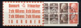 Denmark 1979-82 Booklet 2x10, 8x50, 2x130, 2x160 CTO - Denmark