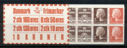 Denmark 1979-82 Booklet 2x10, 8x50, 2x130, 2x160 MUH - Denmark