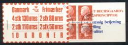 Denmark 1979-82 Booklet 2x80, 2x50, 2x110, 4x130 CTO - Denmark