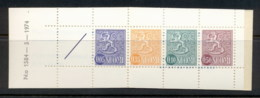 Finland 1968-78 Arms Of Finland Booklet 1x05,1x35,1x10,1x50, 1 Label Beige Cover MUH - Finland