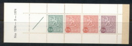 Finland 1968-78 Arms Of Finland Booklet 1x10, 2x20, 1x50, 1 Label Green Cover '74 MUH - Finland