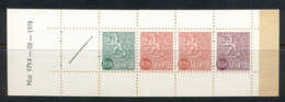 Finland 1968-78 Arms Of Finland Booklet 1x10, 2x20, 1x50, 1 Label Green Cover '78 MUH - Finland