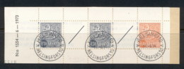 Finland 1968-78 Arms Of Finland Booklet 2x30, 1x40, 2 Labels CTO - Finland