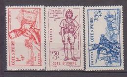 COTE D'IVOIRE       N° YVERT   162/164  NEUF SANS CHARNIERES     ( NSCH 1/24 ) - Ivory Coast (1892-1944)