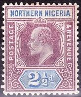 NORTHERN NIGERIA 1902 KEDVII 2.5d Dull Purple & Ultramarine SG13 FU - Nigeria (...-1960)