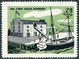 USA History 1839 First Grain Shipment #29 Brig OSCEOLA Sailing Ship Segelschiff Voilier Vignette Poster Reklamemarke - Ships