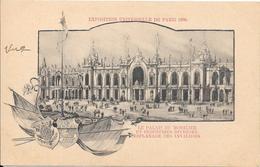 Carte Précurseur - Exposition Universelle De PARIS 1900 : Le Palais Du Mobilier Et Industries Diverses - Esplanade Des . - Expositions