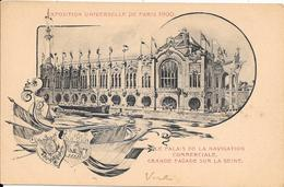 Carte Précurseur - Exposition Universelle De PARIS 1900 : Le Palais De La Navigation Commerciale - Grande Façade Sur La - Expositions