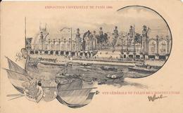 Carte Précurseur - Exposition Universelle De PARIS 1900 : Vue Générale Du Palais De L'Horticulture - Expositions