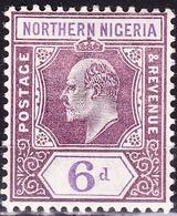 NORTHERN NIGERIA 1902 KEDVII 6d Dull Purple & Violet SG15 MH - Nigeria (...-1960)