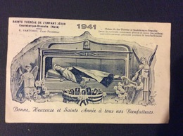 CALENDRIER SAINTE THÉRÈSE DE L'ENFANT JÉSUS  Chasse De Ste Thérèse A COUDEKERQUE -BRANCHE  Nord  ANNÉE 1941 - Calendriers