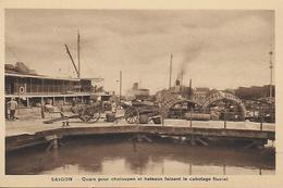 Viet Nam) SAIGON  - Quais Pour Chaloupe Et Bateaux Faisant Le Canotage Fluvial - Viêt-Nam