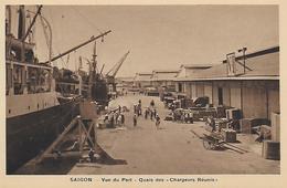 Viet Nam) SAIGON  - Vue Du Port Quais Des Chargeurs Réunis - Viêt-Nam