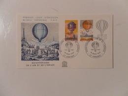 FRANCE FDC YT 2261/2262 BICENTENAIRE DE L'AIR ET DE L'ESPACE, ANNONAY - 1980-1989
