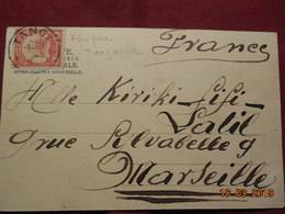 Carte Postale De Tanzanie De 1904 A Destination De Marseille Avec Timbre Des Colonies Allemandes - Kolonie: Duits Oost-Afrika