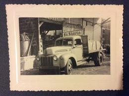 PHOTO AUTOMOBILE CAMION FORD Enseigne Slavia 1948 - Automobiles
