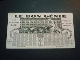 Buvard Le Bon Génie Calendrier 1922 - Banque & Assurance