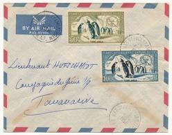 TAAF - Enveloppe Affr. 50F Et 100F (PA N°2 Et 3) Iles St Paul Et Amsterdam 16 Avril 1958 - Terres Australes Et Antarctiques Françaises (TAAF)