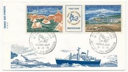 TAAF - Enveloppe FDC - XXeme Anniversaire De Port Aux Français - Archipel Des Kerguelen - 9/03/1971 - FDC