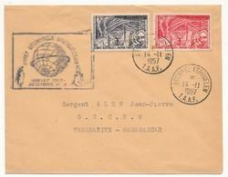 TAAF - 2 Enveloppes Année Géophysique Internationale - Archipel Kerguelen T.A.A.F - 14.11.1957 - Terres Australes Et Antarctiques Françaises (TAAF)