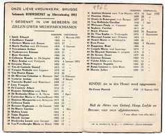 Brugge. Bruges. Onze Lieve Vrouwkerk. Brugge. Solemnele Rouwdienst Op Allerzielendag 1953. **** - Décès