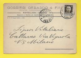 ֎ GORRIERI GERARDO & F LLI ֎ MEDIATORI COMMISSIONAIRI ֎ NOVELLARA EMILIA ֎ 1936  ֎ - Italie