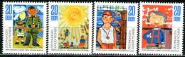 DDR - Mi 1991 / 1994 Einzeln - ** Postfrisch (A) - Zeichnungen Junger Pioniere - [6] République Démocratique