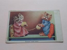 Eventjes RUSTEN Hoor ! ( HUMOR / CATS ) Uitgave Rembrandt / Amsterdam - Anno 1946 ( Zie Foto ) ! - Humour