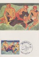 Carte  Maximum  1er  Jour  MONACO   Oeuvre  De  DERAIN   1980 - Cartoline Maximum