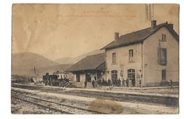 66 CAUDIES DE FENOUILLEDES LA GARE 1935 CPA 2 SCANS - Other Municipalities