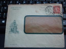 Enveloppe Maison Louis DAVID VERNON (Eure) Timbré 1927 - Unclassified