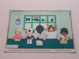 Mijn Geluksenschen Komen Tot U Uit Alle WINDSTREKEN ( VOOR HET KIND ) Kinderbescherming - Anno 1937 ( Zie Foto ) ! - Scènes & Paysages