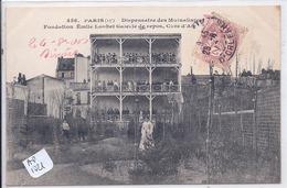 PARIS XIII- DISPENSAIRE DES MUTUALISTES- FONDATION EMILE LOUBET- GALERIE DE REPOS ET CURE D AIR - Arrondissement: 13