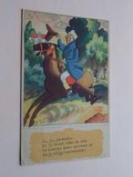 Ju, Ju, Paardje, En Jij Moet Naar De Stal, De Koetjes Eten De Haver Op En Jij .... ( NL ) Anno 194? ( Zie Foto ) ! - Humour