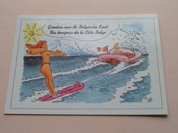 Groeten Van De Belgische Kust - Un Bonjour De La Côte Belge ( Cardmaster ) Anno 2000 ( Zie Foto ) ! - Humour