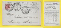֎ PARMA ֎ LUIGI BATTEI ֎ PARMA - NICE ֎ 1911  ֎ - Italie