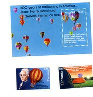 Tanzanie 1994-JP Blanchard-montgolfières-YT 1378/9+B211***MNH - Mongolfiere