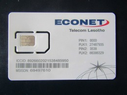 SIM GSM ECONET LESOTHO TOP MINT - Lesotho