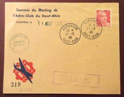 D143 PLI LESTÉ Habsheim 11/8/1946 Aéro-Club Haut-Rhin Numéroté 219 - 1921-1960: Période Moderne