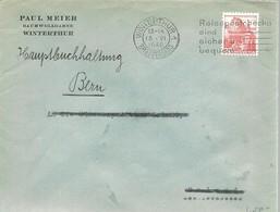 LETTER 1940 WINTERTHUR - Suiza