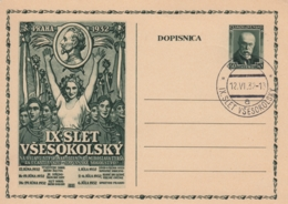 Karte Tschechien -IX  Slet Vsesokolsky - Praha 1932 - Tschechische Republik