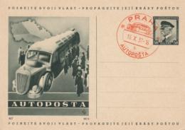 Karte Tschechien - Autoposta - Prag 1937 - Tschechische Republik