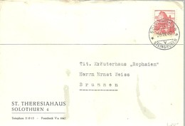 LETTER 1947 SOLOTHURN - Suiza