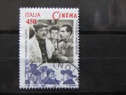 *ITALIA* USATO 1998 - ESP MOND GIORNATA CINEMA DE FILIPPO - SASSONE 2384 - LUSSO/FIOR DI STAMPA - 6. 1946-.. Repubblica