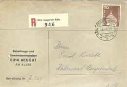 LETTER 1969 REGISTERED  AEGUSTAM ALBIS - Suiza