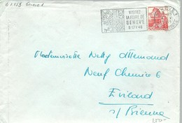 POSTMARKET  GENEVE  1948 - Marcofilia