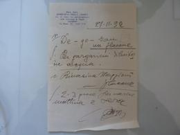 Ricetta Farmaceutica Prof. Dott. DOMENICO DELLA CIOPPA Salerno 1932 - Manoscritti